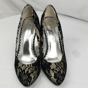 Rampage Black Lace Heels